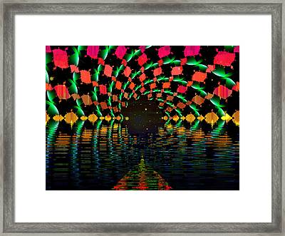 At The End Of The Tunnel Framed Print by Faye Symons