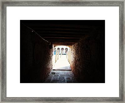 At The End Of The Tunnel Framed Print by Zinvolle Art