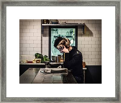 At The End Of The Veggie Bar Framed Print