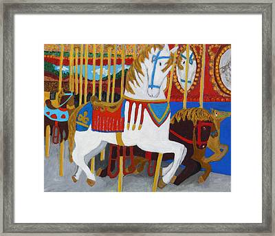 Framed Print featuring the painting At The Fair by Mary M Collins