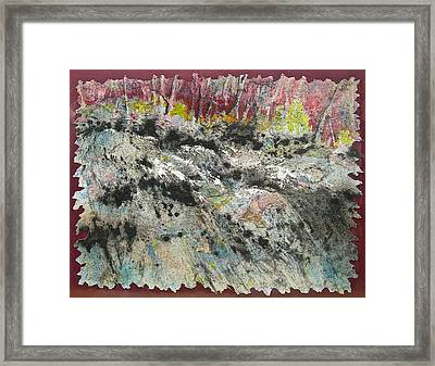 At The Falls Framed Print by Carolyn Rosenberger