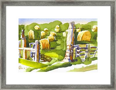 At The Farm Baling Hay II Framed Print by Kip DeVore