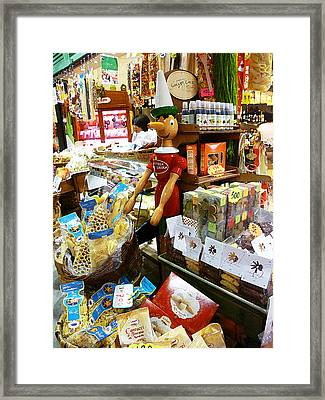 At The Florence Market  Framed Print
