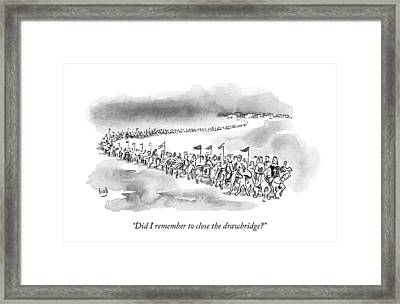 At The Front Of A Marching Army On Horseback Framed Print