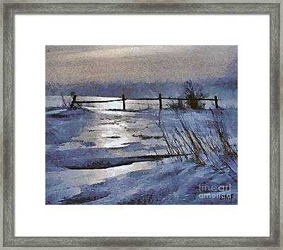 At The Frozen Lake Framed Print by Dragica  Micki Fortuna
