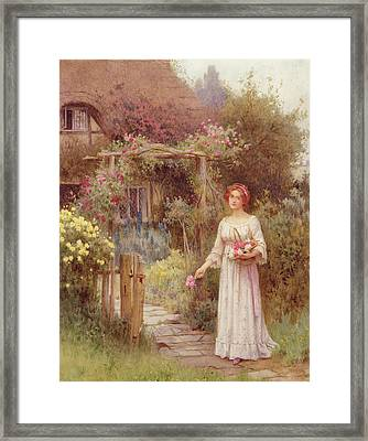 At The Garden Gate Framed Print by William Affleck
