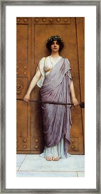 At The Gate Framed Print by John Williams Godward
