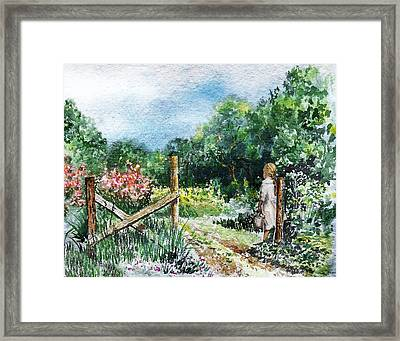 At The Gate Summer Landscape Framed Print