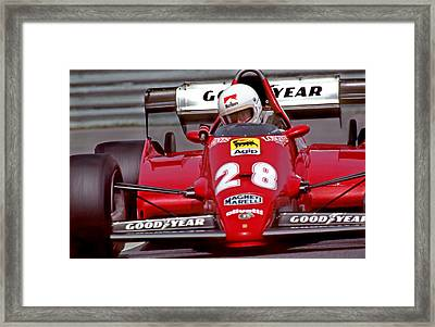 At The Hairpin Framed Print