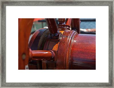 At The Helm Framed Print by Scott Campbell