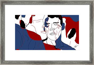 At The Intersection Of The Desires Framed Print by Hal Nymen