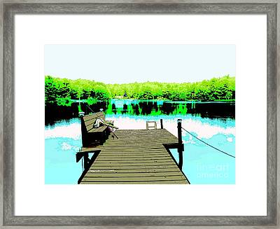 At The Lake Framed Print by Sally Simon