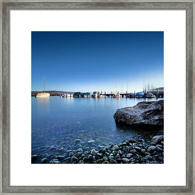 At The Lake Zuerich Framed Print by Marc Huebner