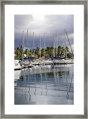 At The Marina Framed Print by    Michael Glenn