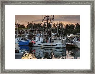At The Marina Framed Print