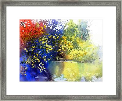 At The Marsh Framed Print