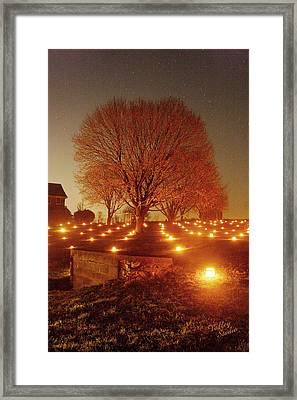Framed Print featuring the photograph At The Miller Farm 12 by Judi Quelland