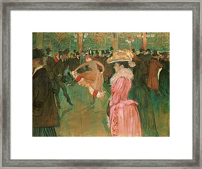 At The Moulin Rouge - The Dance Framed Print