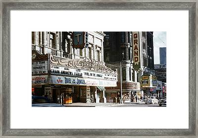 At The Movies 1954 Framed Print by Terry Weaver