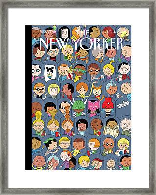 At The Movies Framed Print