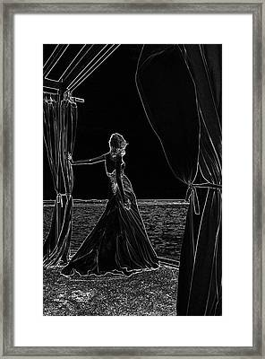 At The Natural Stage. Black Art Framed Print by Jenny Rainbow