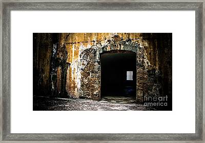 At The Old Fort Framed Print by Perry Webster