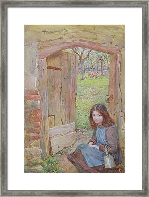 At The Orchard Gate, 1903 Framed Print