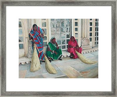 At The Palace Framed Print by Pam Kaur