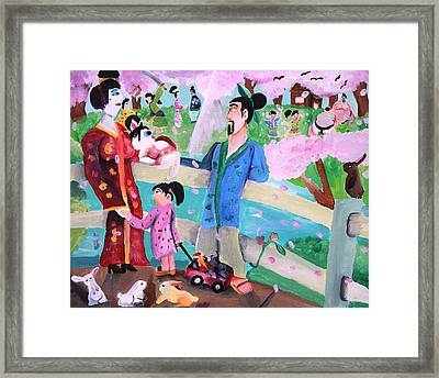 At The Park Framed Print by Artists With Autism Inc
