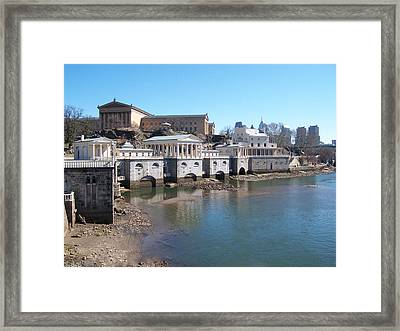 At The Philadelphia Waterworks Framed Print by Bill Cannon