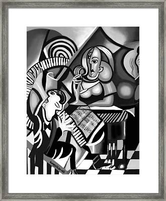 At The Piano Bar Framed Print