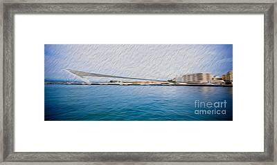 At The Pier In San Juan Puerto Rico Framed Print