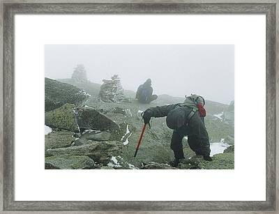 At The Pinnacle Of Choice Framed Print by Jim Cook