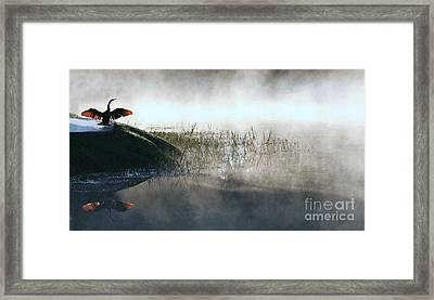At The Pond Framed Print by Monika A Leon