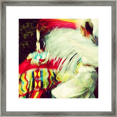 At The Pow Wow Framed Print