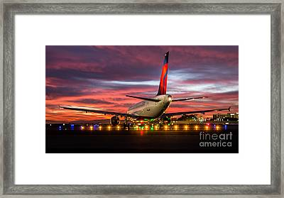 At The Starting Line Framed Print