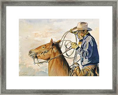 At The Ready Framed Print by Don Dane