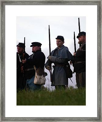 At The Ready Line - Perryvile Ky Framed Print