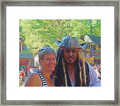 At The Renaissance Fair Framed Print by Victoria Sheldon