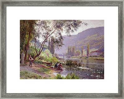 At The River's Edge Framed Print by Emile Isenbart