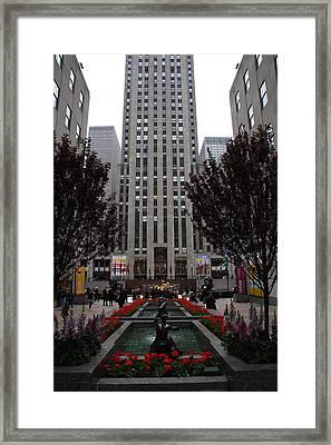 At The Rockefeller Center Framed Print