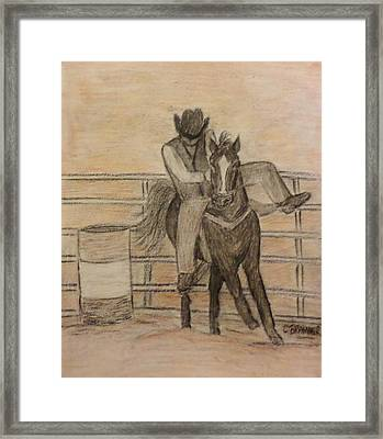 At The Rodeo Framed Print by Christy Saunders Church