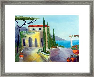 At The Seaside Amalfi Framed Print