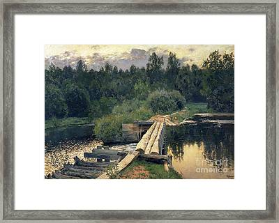 At The Shallow Framed Print by Isaak Ilyich Levitan