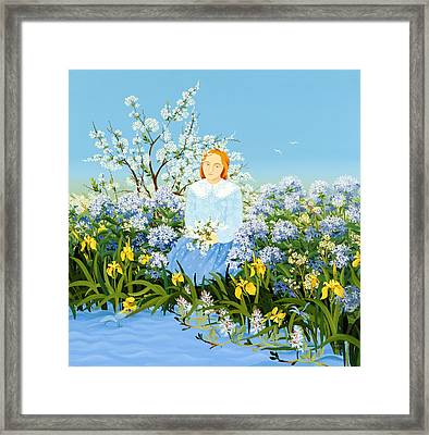 At The Shore Of Dreams Framed Print
