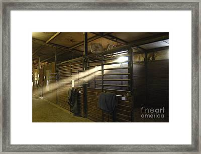 At The Stable Framed Print