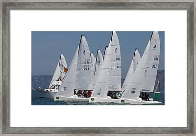 At The Start J70s Framed Print by Steven Lapkin