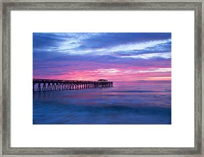 Myrtle Beach State Park Pier Sunrise Framed Print by Vizual Studio
