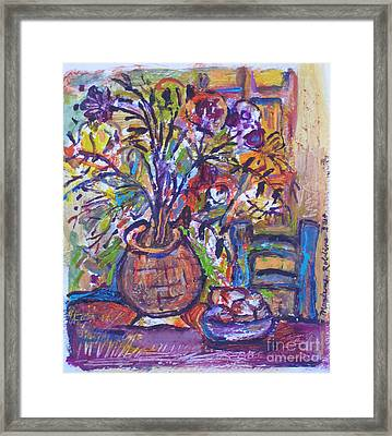 At The Table Framed Print by Marlene Robbins