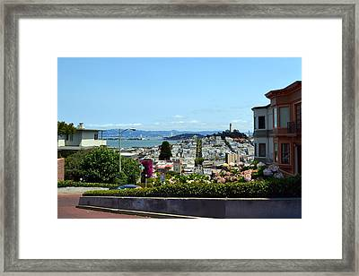 At The Top - Lombard Street Framed Print